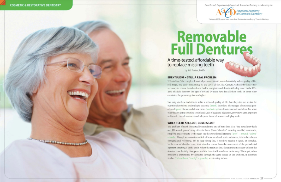 removable full dentures in portage