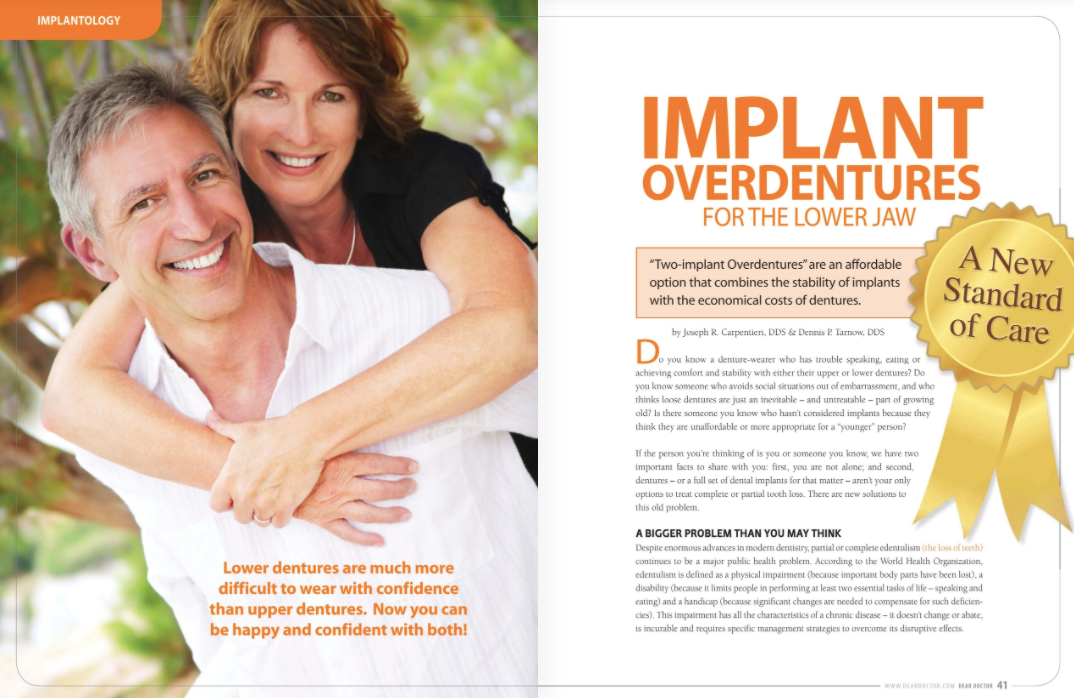 implant overdentures in portage