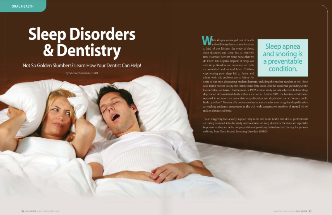sleep disorders and dentistry treatment in portage