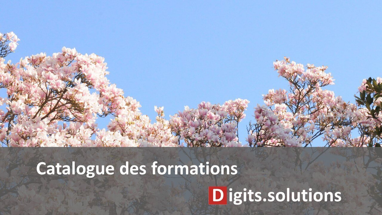 Tout le catalogue de formation