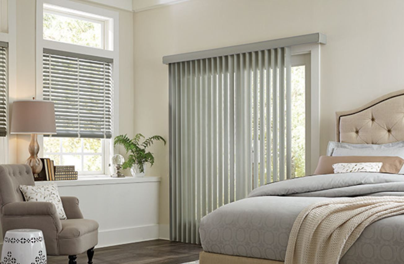 Vertical blinds, sliding panel blinds