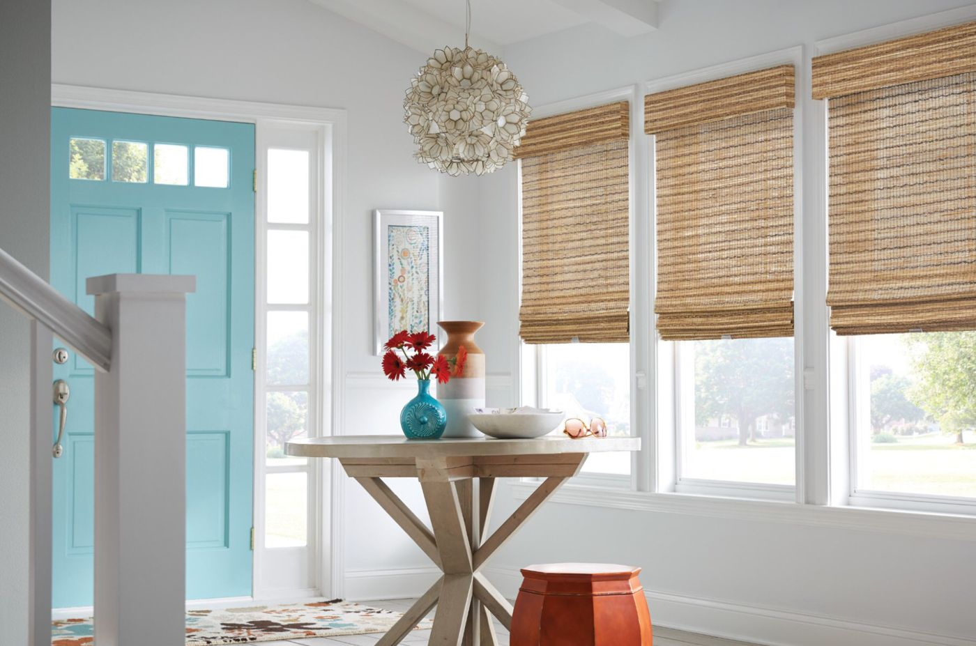 Natural shades, woven wood shades