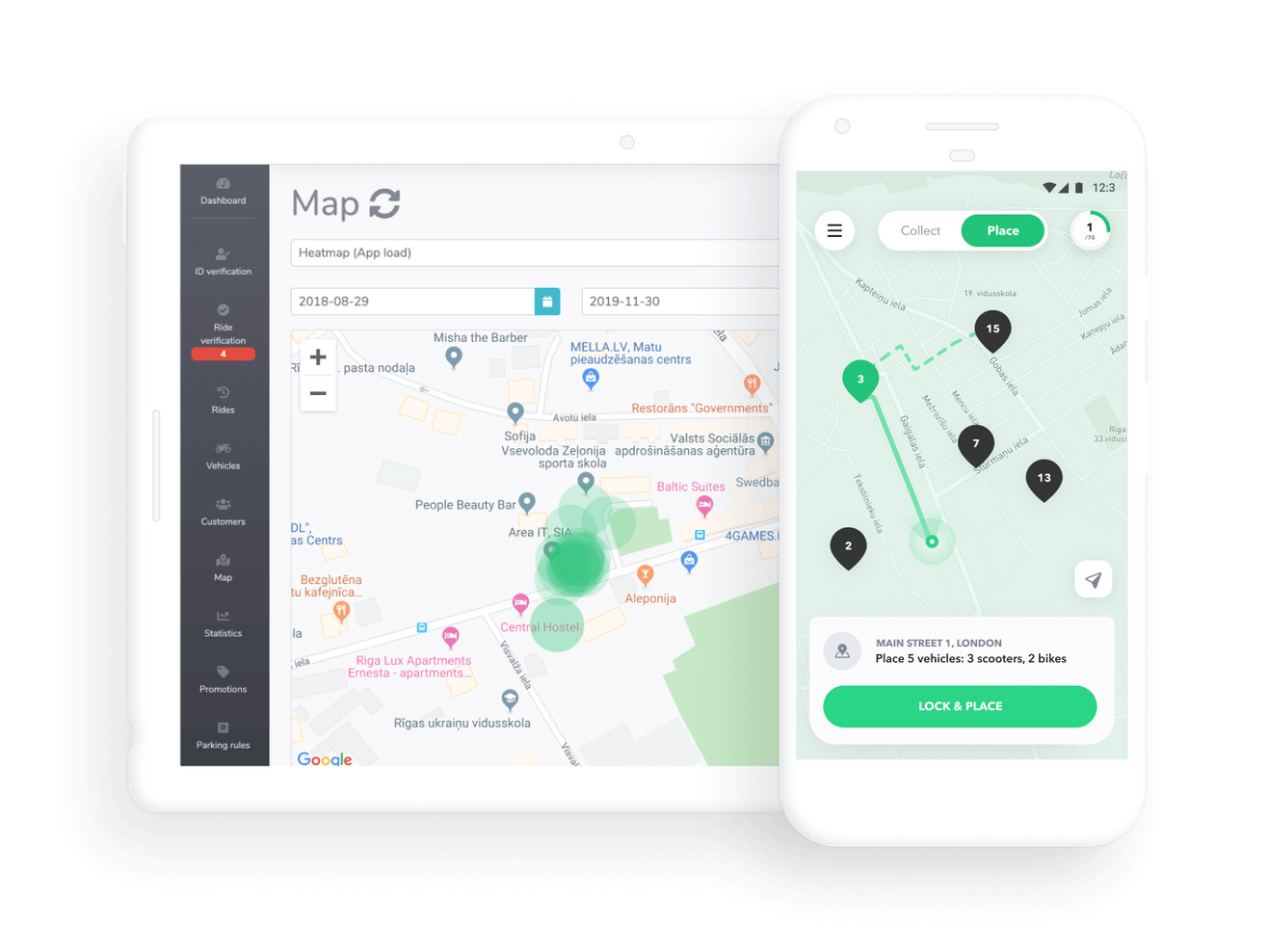 Operational team app for employees by ATOM Mobility