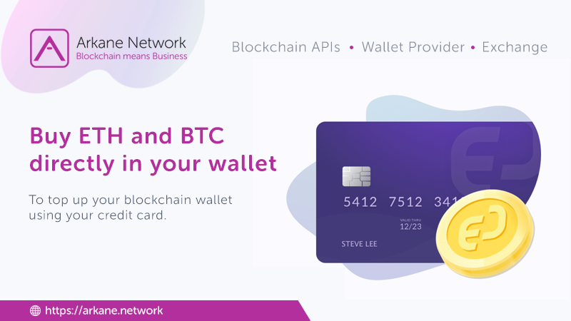Buy ETH and BTC  directly in your wallet