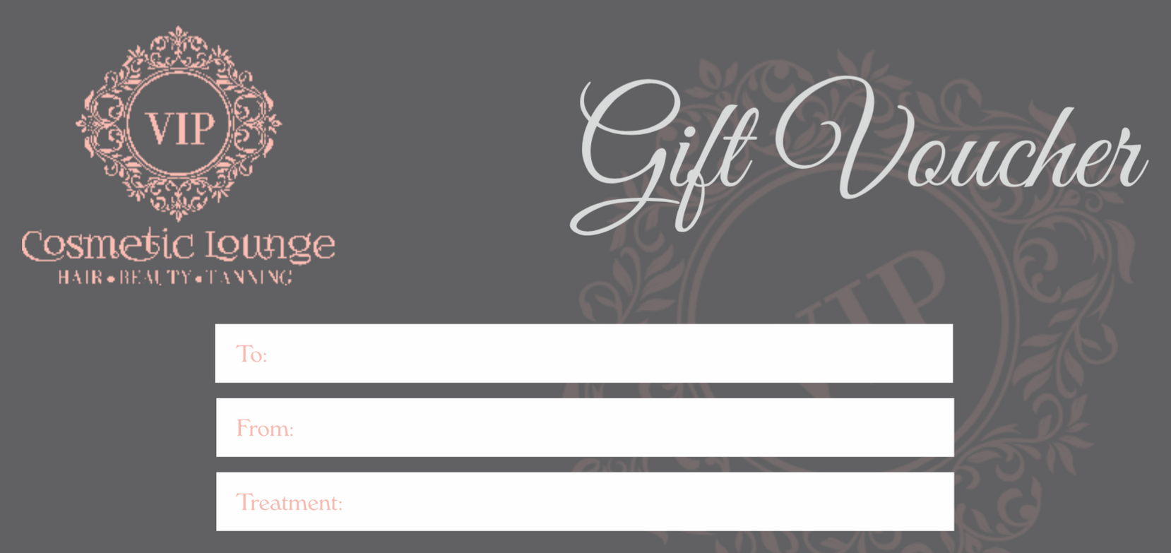 Full cosmetic beauty treatment gift voucher