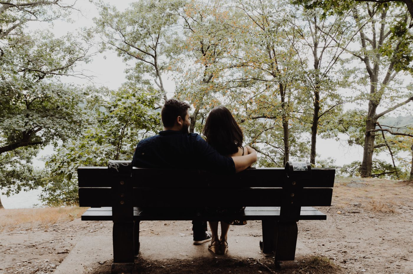 Photo of a couple who became closer and more connected after marriage counseling.