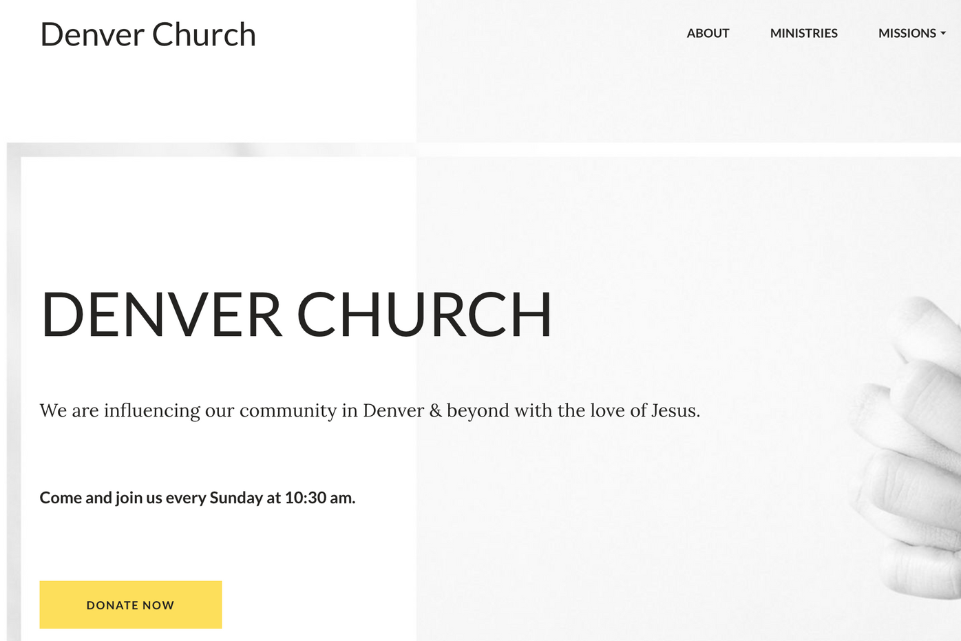 Church Website Template: View Demo