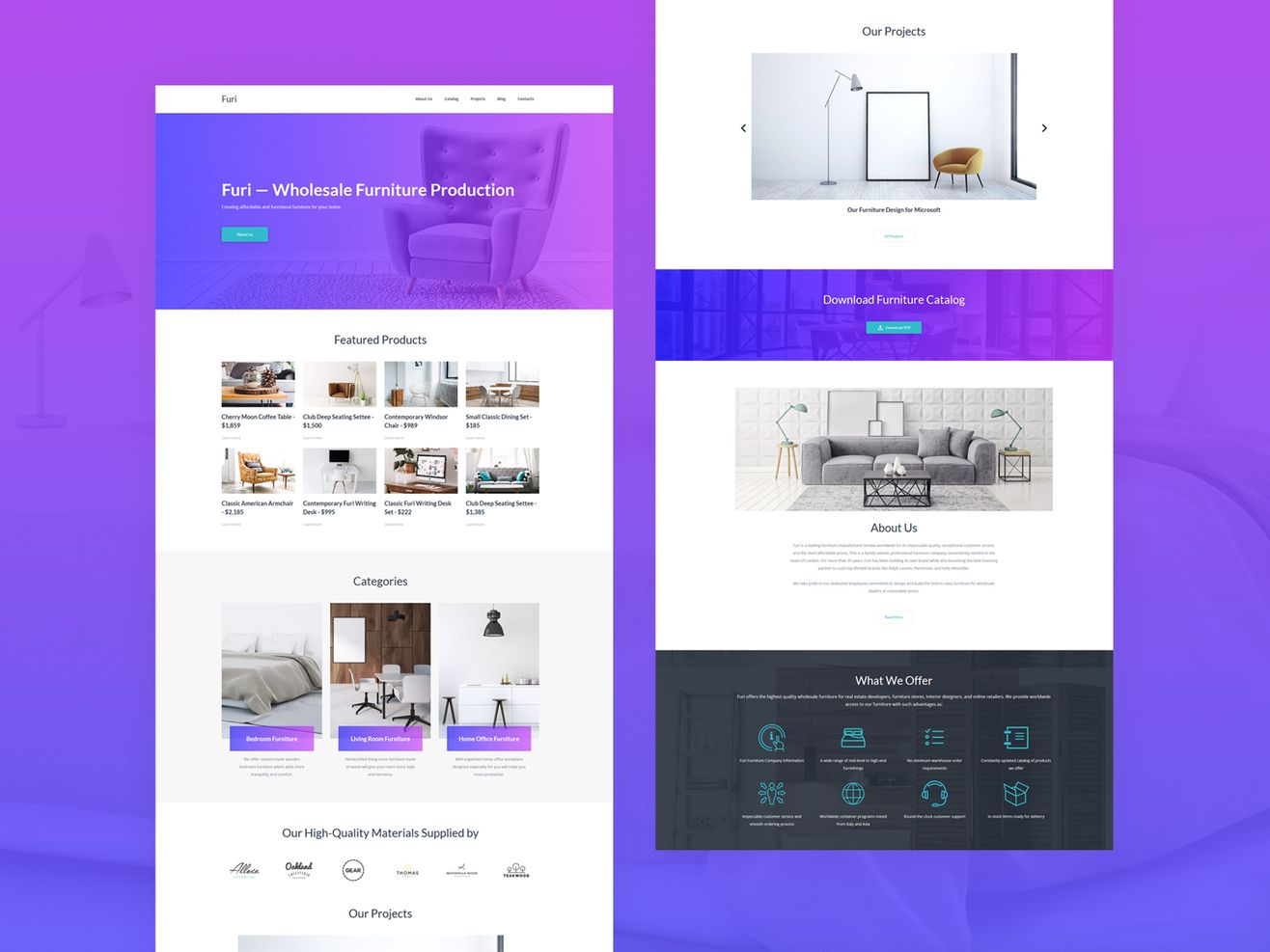Furniture Website: View Demo