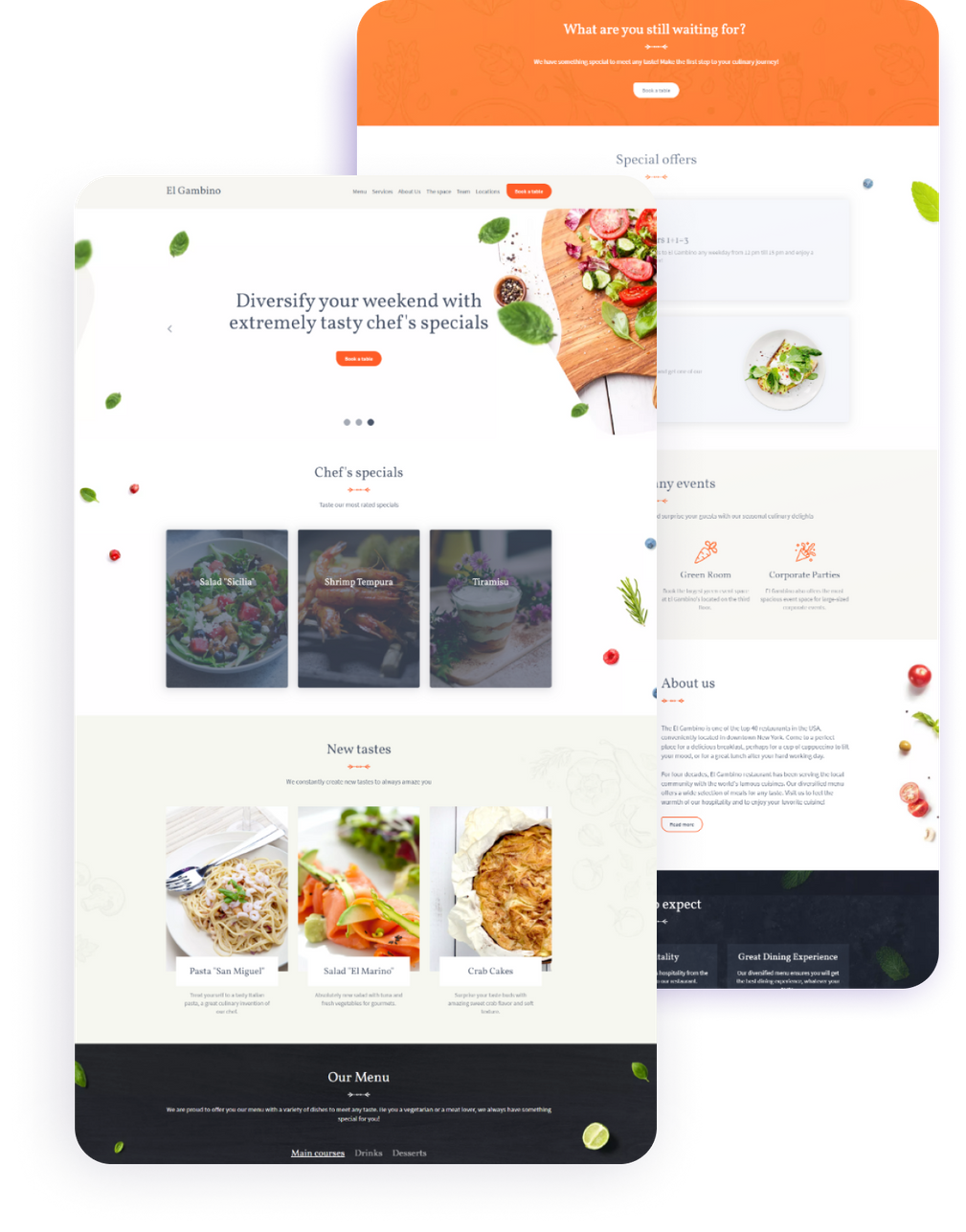 Restaurants Website Templates