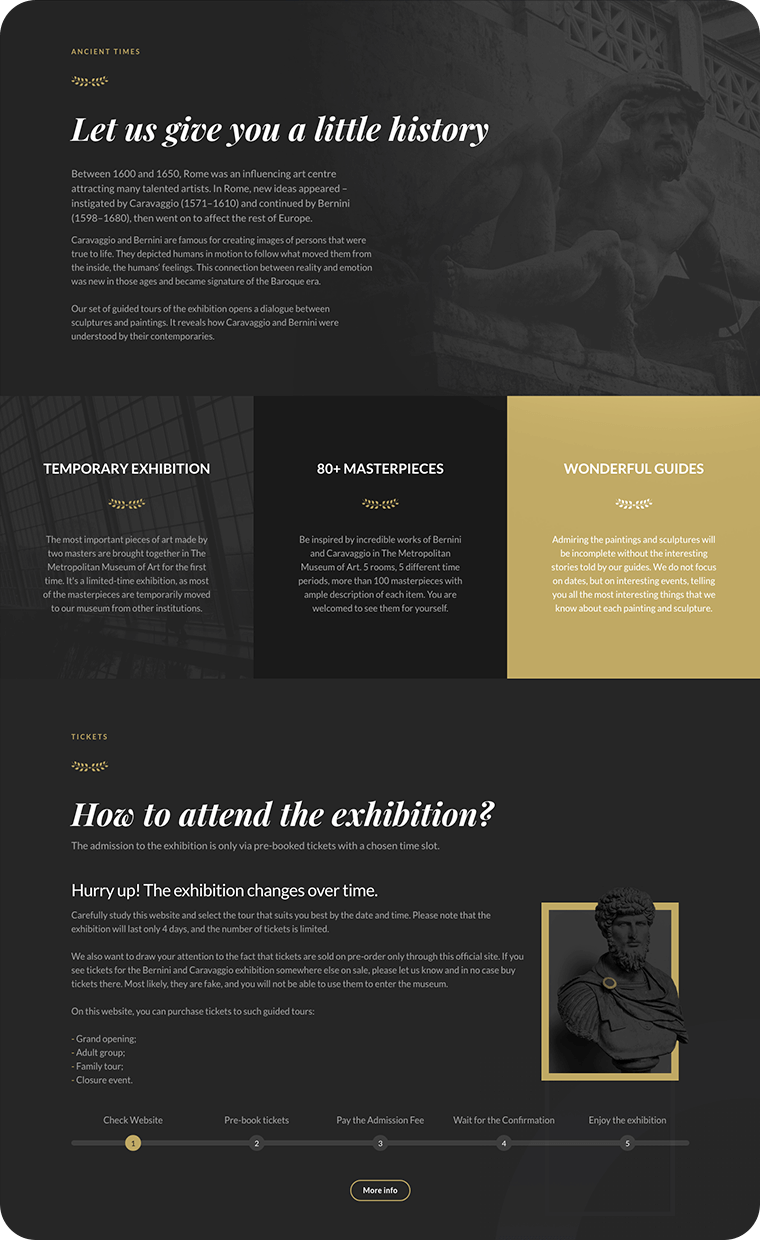 Museum website template: weblium.com