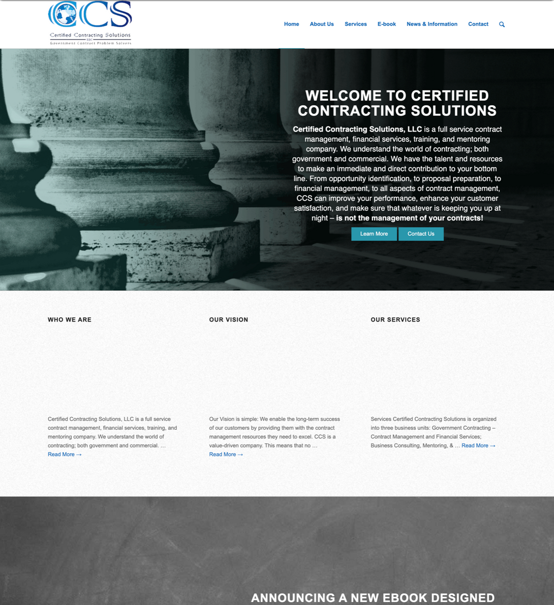 CCS Website Before-Web Design and Development by Splurge Media