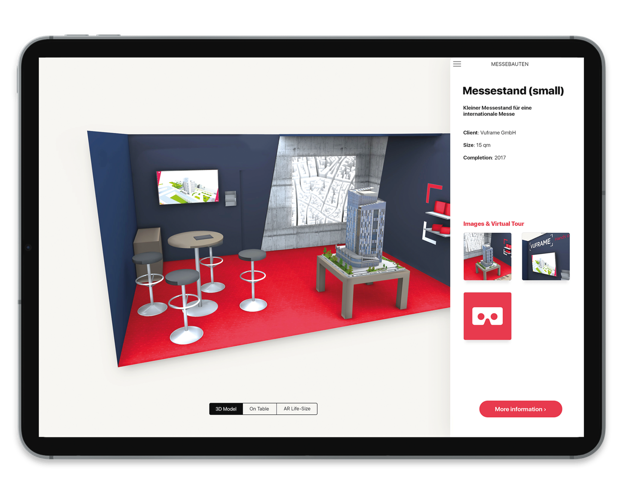 Vuframe – virtueller Messestand