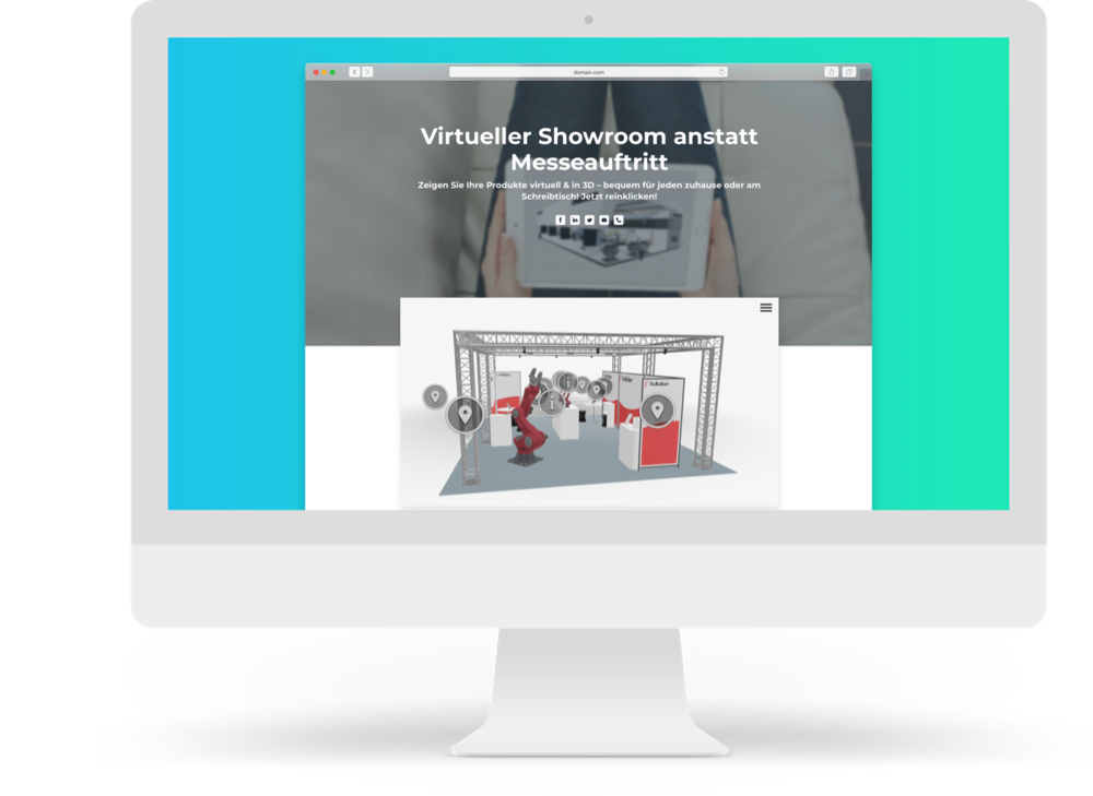 Virtueller Showroom im Browser