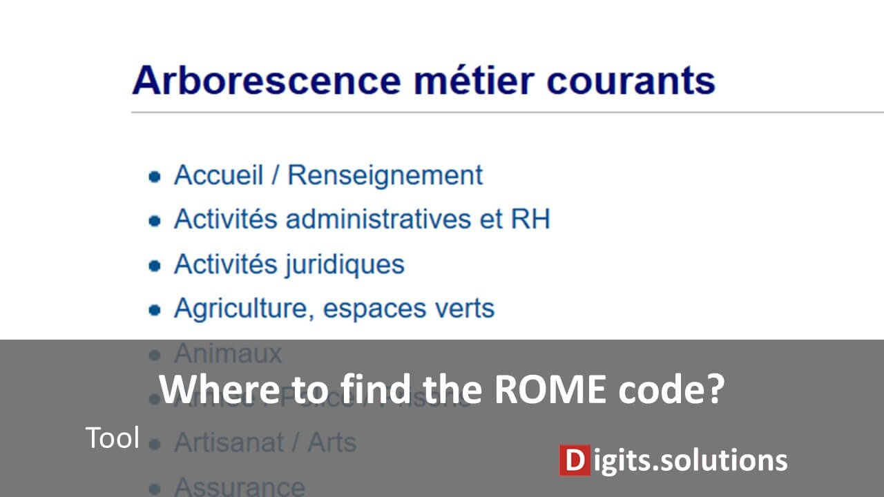 Find your ROME code: jobs, jobs, skills and knowledge