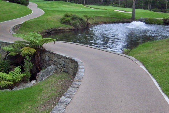 Rubber Paved Golf Course Pathway