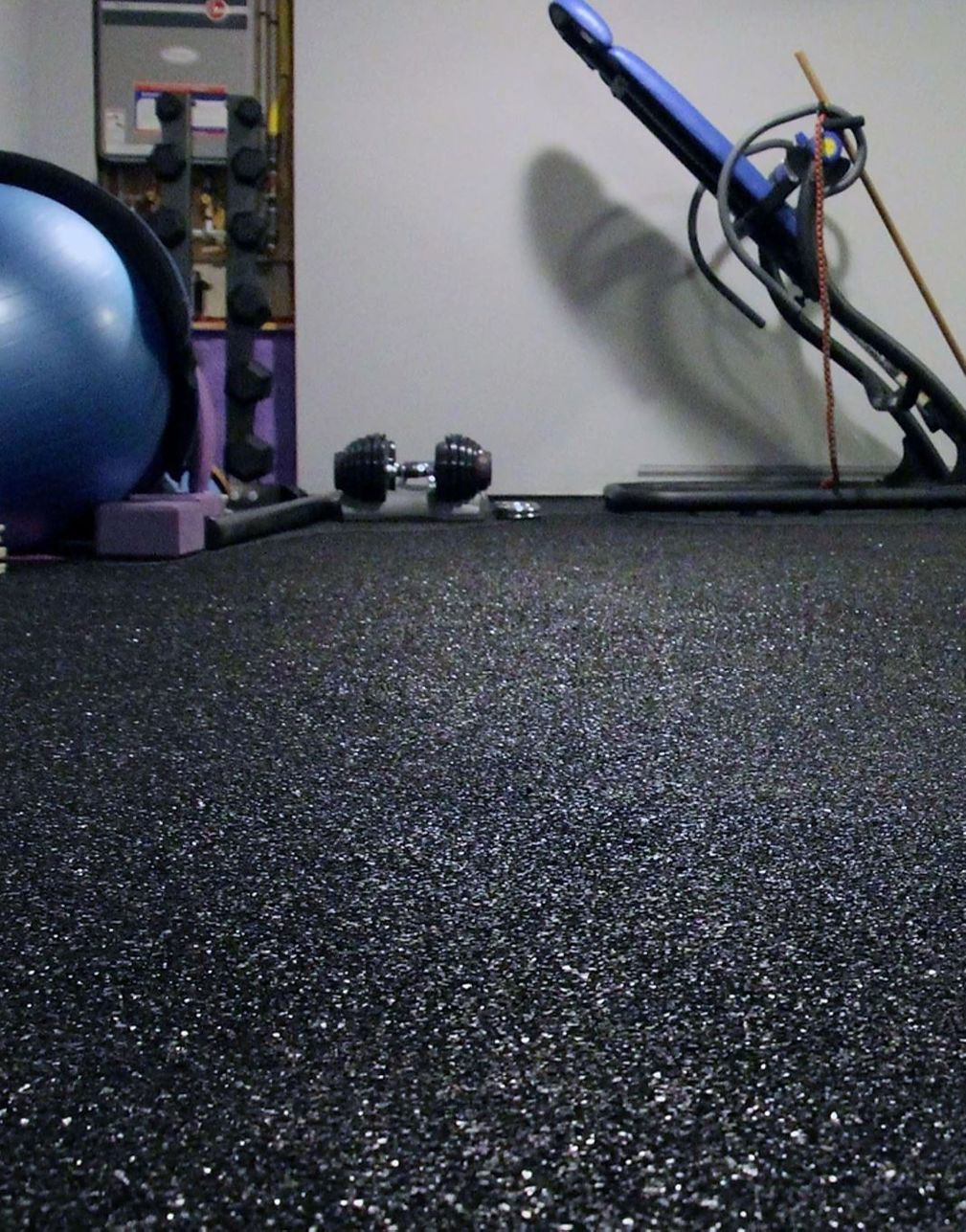 Rubber Paved Home Gym Flooring