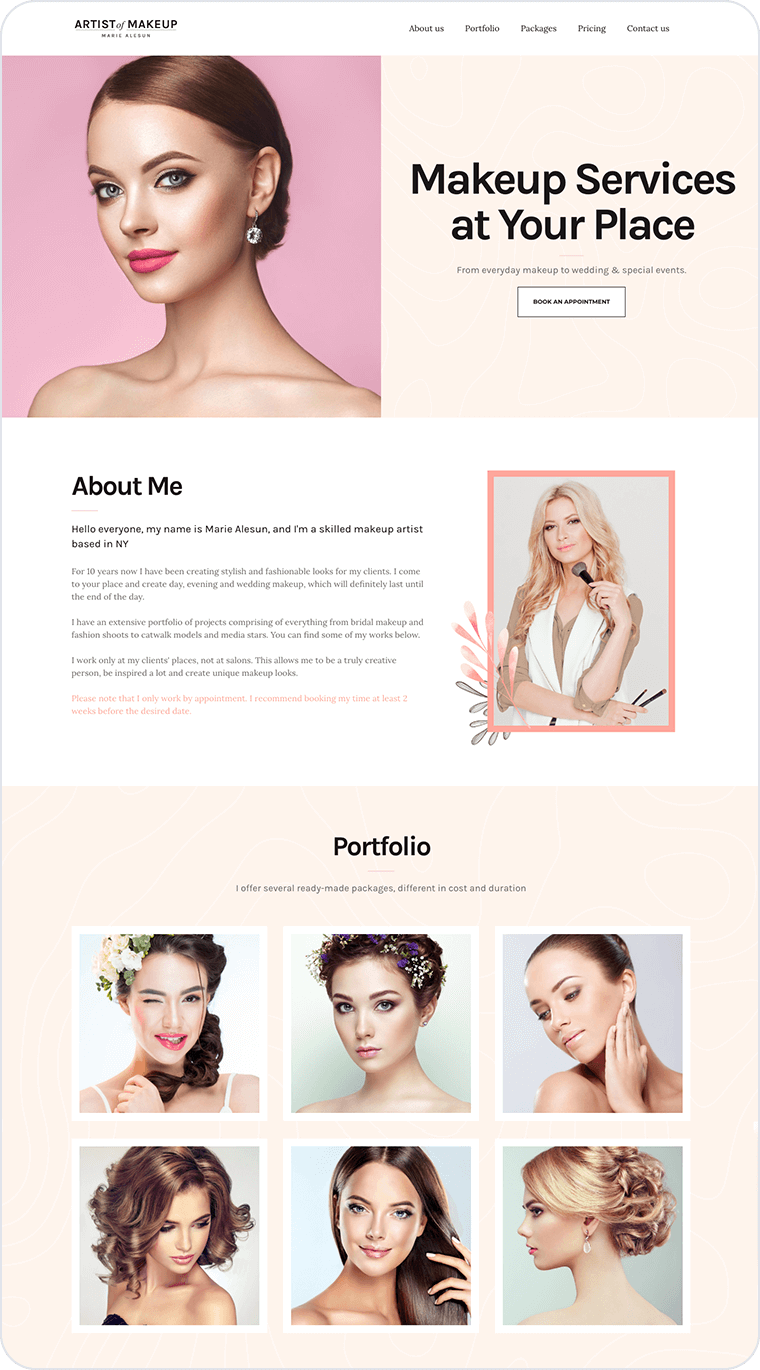 Wellness website templates